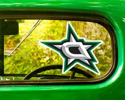 2 DALLAS STARS HOCKEY STICKER Decal Bogo For Car Bumper Free