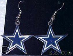 Dallas Cowboys J Hook Star Logo Earrings NICE NEW