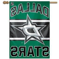 "DALLAS STARS 28""X40"" HOUSE FLAG WALL BANNER NHL LICENSED USA"