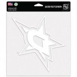 "Dallas Stars 8""x8"" White Auto Decal  NHL Car Truck Emblem St"