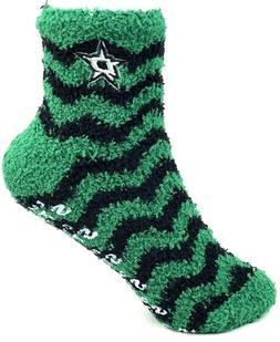 Dallas Stars Adult Fuzzy Chevron Stripe Sleep Socks One Size