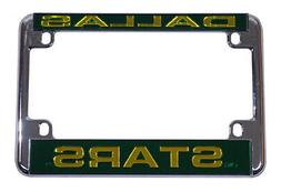 Dallas Stars Chrome Motorcycle, RV or Trailer License Plate