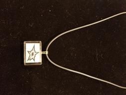 Dallas Stars Glass Pendant Necklace