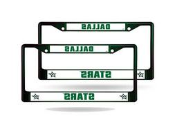 Dallas Stars Green Painted Chrome Metal  License Plate Frame