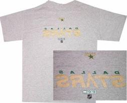 Dallas Stars Grey Throwback Wordmark Logo Shirt by CCM  Clea