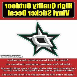 Dallas Stars Hockey Vinyl Car Window Laptop Bumper Sticker D