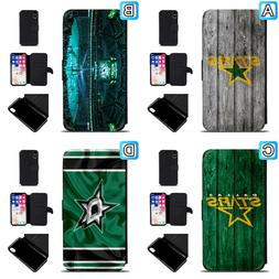 dallas stars leather flip case for iphone