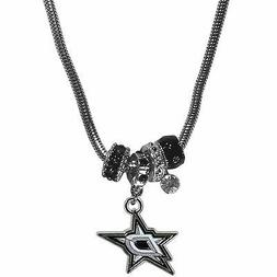 """dallas stars licensed nhl euro bead necklace with 18"""" chain"""