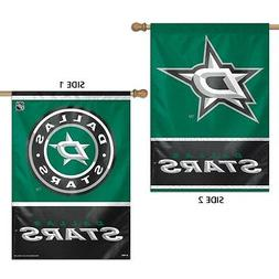"""DALLAS STARS LOGO 28""""X40"""" DOUBLE SIDED BANNER FLAG BRAND NEW"""