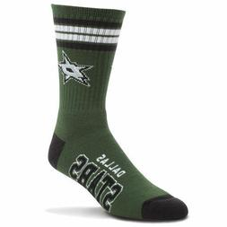 Dallas Stars Men's Crew Socks Large Size 10 to 13 4 Stripe