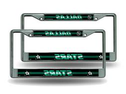 Dallas Stars NHL Chrome Metal  Bling License Plate Frame Set
