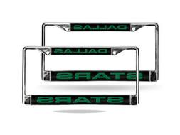 Dallas Stars NHL Chrome Metal  Laser Cut License Plate Frame
