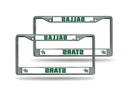 Dallas Stars NHL Chrome Metal  License Plate Frame Set