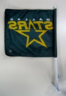 """DALLAS STARS NHL Hockey Car Flag 11"""" x 17"""" with 20"""" pole by"""