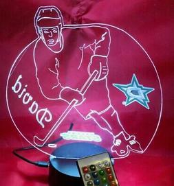 Dallas Stars NHL Hockey Player Personalized Night Light Up L