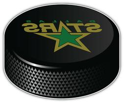 Dallas Stars NHL Logo Hockey Puck Car Bumper Sticker Decal -