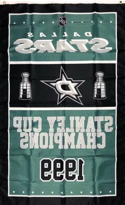 Dallas Stars NHL Stanley Cup Championship Flag 3x5 ft Sports