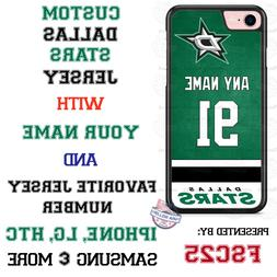 Dallas Stars Personalized Hockey Jersey Phone Case Cover for