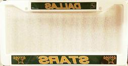 Dallas Stars Plastic LBL License Plate Frame Tag Cover Hocke