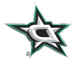 Dallas Stars Premium Metal Raised Die Cut Color Chrome Auto