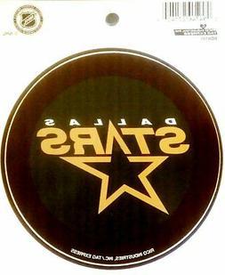 """Dallas Stars PV Rico 4"""" Round Flat Vinyl Decal Bumper Sticke"""