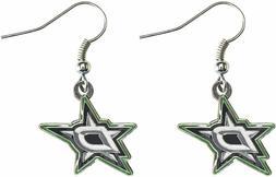 DALLAS STARS - TEAM LOGO - DANGLE EARRINGS BRAND NEW - NHL-E