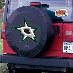 Dallas Tire Cover with Stars Logo on Black Vinyl