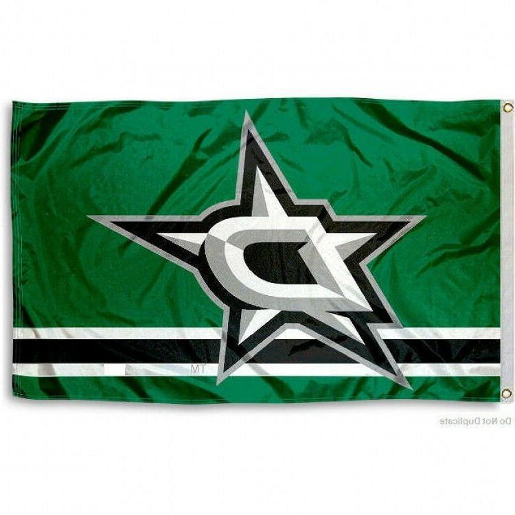 dallas stars flag 3 x5 nhl logo