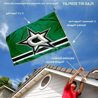 Dallas Stars Flag and Bracket Kit