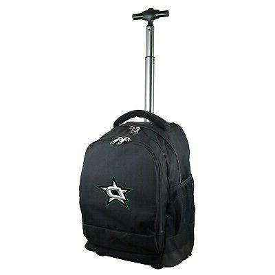 dallas stars nhl expedition wheeled backpack shipping