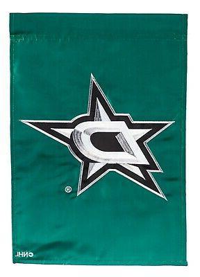 dallas stars premium garden flag applique embroidered