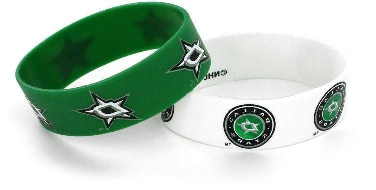 dallas stars silicone bracelets 2 pack brand