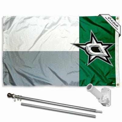 dallas stars texas state flag pole