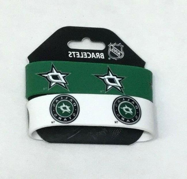 nhl dallas stars 2 pack bracelet wrist