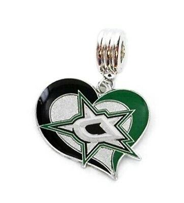 nhl dallas stars hockey charm pendant