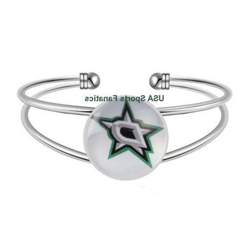 nhl dallas stars team logo adjustable bangle