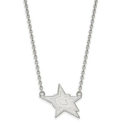 sterling silver nhl dallas stars large pendant