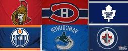 Licensed NHL HOCKEY LARGE FLAG BANNER 3'X5' -Indoor/Outdoor-