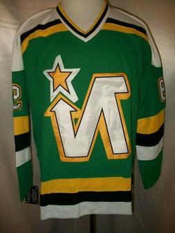 "Mike Modano Dallas Stars Green & White ""1988-91 Throwback"" C"