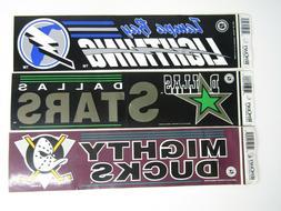 NHL WinCraft 1990's Vinyl Decal Bumper Sticker Mighty Ducks