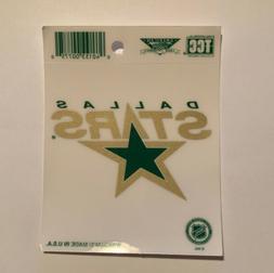 NHL Dallas Stars Logo Static Cling Decal Hockey Auto Car Tru