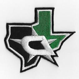 NHL Dallas Stars Map Iron on Patches Embroidered Patch Appli