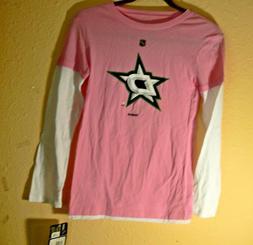 nhl dallas stars pink long sleeve shirt