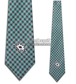 NHL Dallas Stars Tie Hockey Gingham Neckties Licensed Mens N