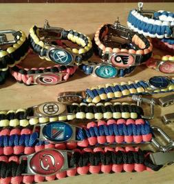NHL Hockey Paracord Bracelet Survival Wristband Military Spe