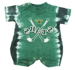 NHL Infant Dallas Stars Retro Tie-Dye Romper, Green