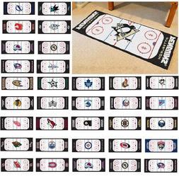 """NHL Teams - 30"""" X 72"""" Hockey Rink Runner Area Rug Floor Mat"""