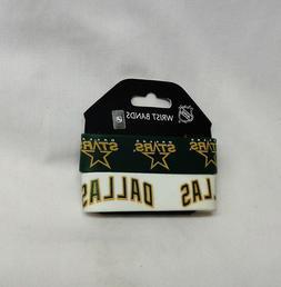 NHL Vintage Logo Dallas Stars 2 Pack Bracelet Wrist Bands Se
