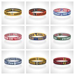 reversible nhl teams bracelet elastic stretch bracelet