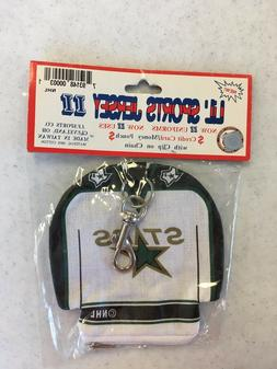 VINTAGE DALLAS STARS JERSEY COIN POUCH BACKPACK ACCESSORY FR